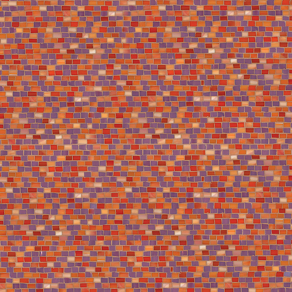 Smalti, a hand cut glass mosaic shown in Rose Quartz and Sardonyx, is part of the Erin Adams Collection for New Ravenna.
