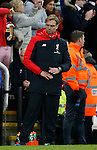 Jurgen Klopp manager of Liverpool signals that the game is over - English Premier League - Newcastle Utd vs Liverpool - St James' Park Stadium - Newcastle Upon Tyne - England - 6th December 2015 - Picture Simon Bellis/Sportimage