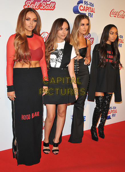 Little Mix ( Jesy Nelson, Jade Thirlwall, Perrie Edwards and Leigh-Anne Pinnock ) at the Capital FM Jingle Bell Ball, The London O2 Arena, Peninsula Square, London, England, UK, on Saturday 03 December 2016. <br /> CAP/CAN<br /> &copy;CAN/Capital Pictures