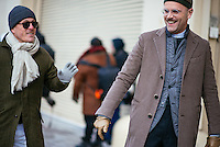 Scott Schuman and Angelo Flaccavento attend Day 4 of New York Fashion Week on Feb 16, 2015 (Photo by Hunter Abrams/Guest of a Guest)
