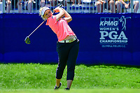 Brooke M. Henderson (CAN) watches her tee shot on 1 during Sunday's final round of the 2017 KPMG Women's PGA Championship, at Olympia Fields Country Club, Olympia Fields, Illinois. 7/2/2017.<br /> Picture: Golffile | Ken Murray<br /> <br /> <br /> All photo usage must carry mandatory copyright credit (&copy; Golffile | Ken Murray)