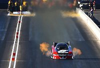 Feb 26, 2016; Chandler, AZ, USA; NHRA funny car driver Cruz Pedregon during qualifying for the Carquest Nationals at Wild Horse Pass Motorsports Park. Mandatory Credit: Mark J. Rebilas-