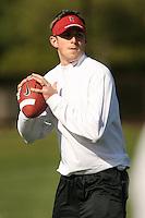 9 April 2007: Michael Sanford during spring practice in Stanford, CA.