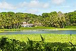 Buada lagoon on island of Nauru
