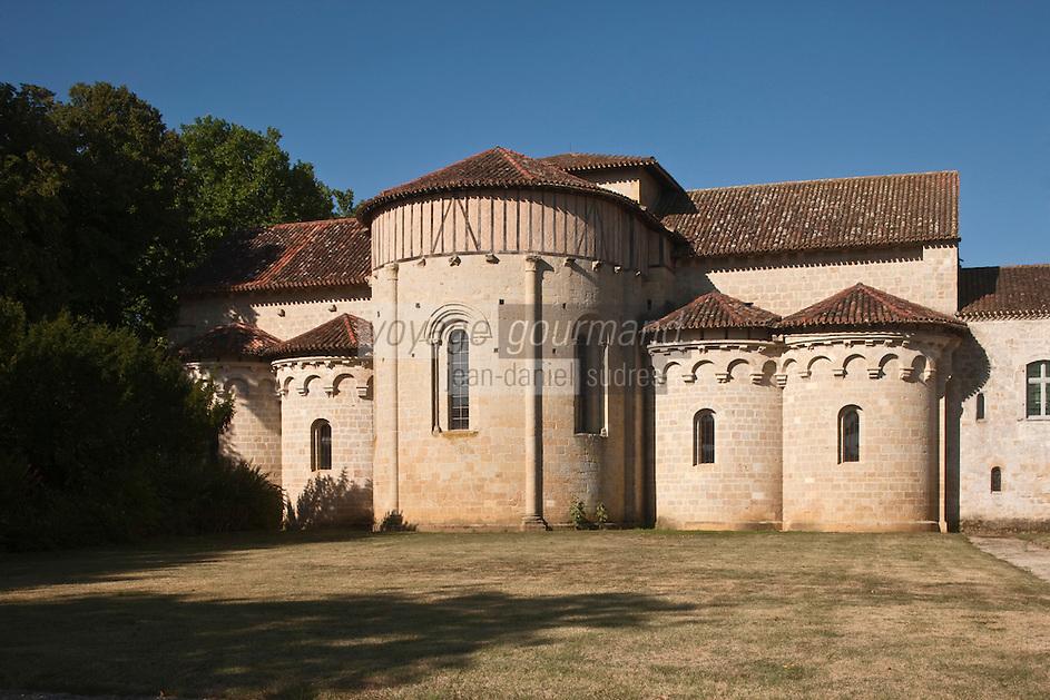Europe/France/Midi-Pyrénées/32/Gers/Valence-sur-Baïse: Abbaye de Flaran - le chevet