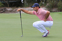 Patrick Reed (USA) on the 10th green during the First Round - Four Ball of the Presidents Cup 2019, Royal Melbourne Golf Club, Melbourne, Victoria, Australia. 12/12/2019.<br /> Picture Thos Caffrey / Golffile.ie<br /> <br /> All photo usage must carry mandatory copyright credit (© Golffile | Thos Caffrey)