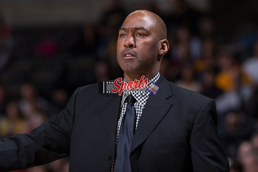 Wake Forest Demon Deacons head coach Danny Manning during second half action against the Minnesota Golden Gophers at the LJVM Coliseum on December 2, 2014 in Winston-Salem, North Carolina.  The Golden Gophers defeated the Demon Deacons 84-69. (Brian Westerholt/Sports On Film)