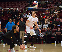 STANFORD, CA - January 5, 2019: Kyle Dagostino, Jordan Ewert at Maples Pavilion. The Stanford Cardinal defeated UC Santa Cruz 25-11, 25-17, 25-15.