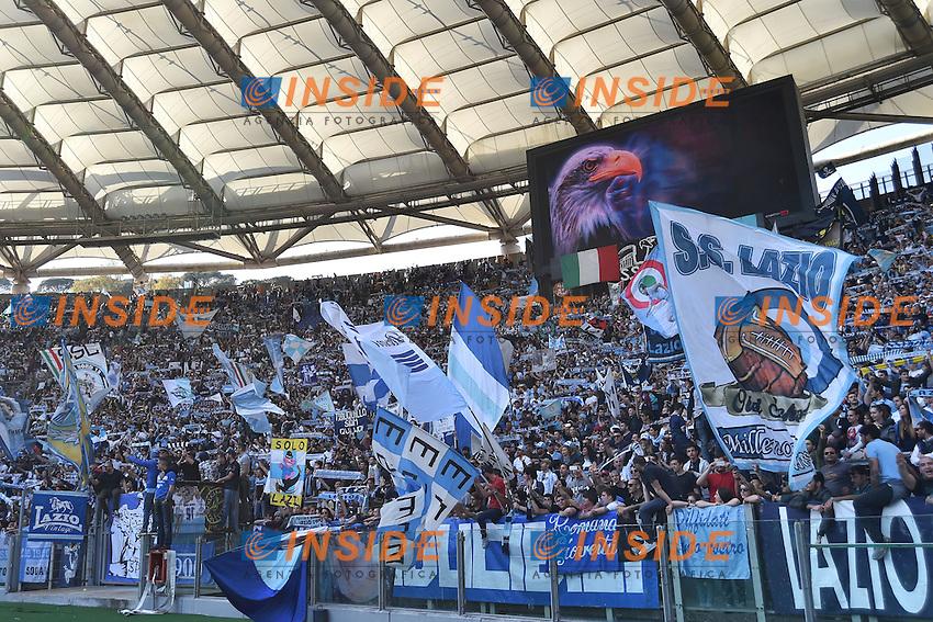 Tifosi Lazio Curva Nord supporters <br /> Roma 12-04-2015 Stadio Olimpico, Football Calcio Serie A Lazio - Empoli. Foto Andrea Staccioli / Insidefoto