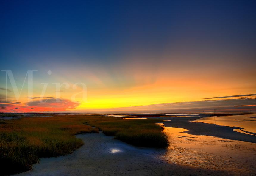 Seascape sunset, Rock Harbor, Cape Cod, Ma