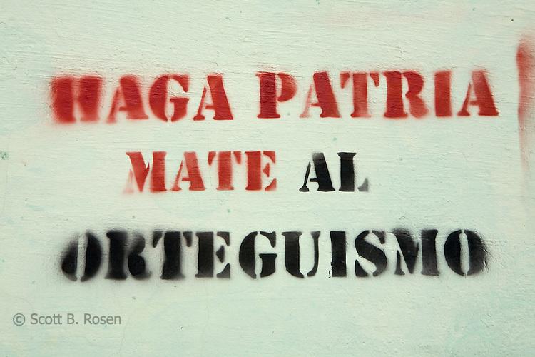 Propaganda graffiti, Granada, Nicaragua