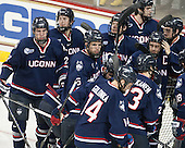 - The Boston College Eagles defeated the visiting University of Connecticut Huskies 3-2 on Saturday, January 24, 2015, at Kelley Rink in Conte Forum in Chestnut Hill, Massachusetts.