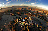 July. 10, 2009; Los Angeles, CA, USA; Aerial views of downtown Los Angeles and Dodger Stadium the home of the Los Angeles Dodgers. Mandatory Credit: Mark J. Rebilas