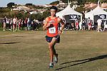 November 2, 2013; Malibu, CA, USA; Pepperdine runner John Lawlor (49) during the WCC Cross Country Championship at Alumni Park.
