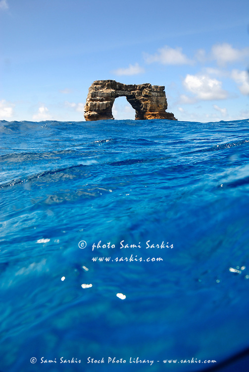 Darwin's Arch by sea level, Darwin Island, Galapagos Islands, Ecuador