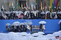 BOGOTÁ - COLOMBIA, 07-08-2018: Dignatarios de difrentes países y expresidentes de Colombia durante la ceremonia de juramento en donde Ivan Duque, toma posesión como presidente de la República de Colombia para el período constitucional 2018 - 22 en la Plaza Bolívar el 7 de agosto de 2018 en Bogotá, Colombia. / Foreign Presidents and former presidents during the swearing ceremony where Ivan Duque, takes office to constitutional term as president of the Republic of Colombia 2018 - 22 at Plaza Bolivar on August 7, 2018 in Bogota, Colombia. Photo: VizzorImage/ Gabriel Aponte / Staff