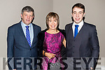 John, Eileen and Andrew Barry, enjoying the Na Gaeil social held at the Meadowlands Hotel, Tralee, on Saturday night last