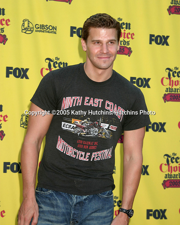 David Boreanaz.Teen Choice Awards.Gibson Ampitheather.Universal City, CA.August  14, 2005.©2005 Kathy Hutchins / Hutchins Photo
