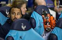 Andros Townsend of Tottenham Hotspur puts his feet up as he is named as a substitute during the UEFA Europa League group match between Tottenham Hotspur and Monaco at White Hart Lane, London, England on 10 December 2015. Photo by Andy Rowland.
