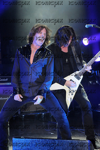 EUROPE - vocalist Joey Tempest and lead guitarist John Norum - performing live at the Empire Shepherds Bush in London UK - 01 Dec 2012.  Photo credit: George Chin/IconicPix