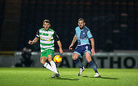 Paul Hayes of Wycombe Wanderers & Ryan Dickson of Yeovil Town during the Sky Bet League 2 match between Wycombe Wanderers and Yeovil Town at Adams Park, High Wycombe, England on 14 January 2017. Photo by Andy Rowland / PRiME Media Images.