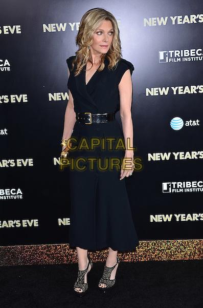 Michelle Pfeiffer.'New Year's Eve' New York premiere, USA..7th December 2011.full length blue dress navy black belt.CAP/ADM/CS.© Chris Smith/AdMedia/Capital Pictures