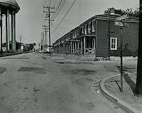 1969 May 20..Redevelopment...Bell-Diamond (A-1-3)..Berkley.Looking down Halifax Street from corner of Halifax Street and Mason Street..Dennis Winston.NEG# DRW69-21-63.NRHA# ..