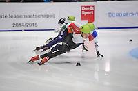 SHORTTRACK: DORDRECHT: Sportboulevard Dordrecht, 24-01-2015, ISU EK Shorttrack, Sandor LIU SHAOLIN (HUN | #37), ©foto Martin de Jong