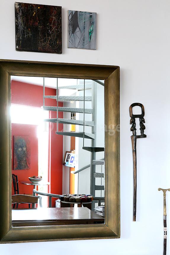 contemporary wooden mirror