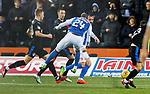 Kris Boyd diverts Youssouf Mulumbu's wayward shot into the net for Kilmarnock's second goal