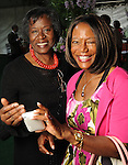 Sarah Trotty and Sharon Iglehart-Leavell at the Five-A Spring Party at the Bayou Bend Collection & Gardens Monday April 25,2010.. (Dave Rossman Photo)