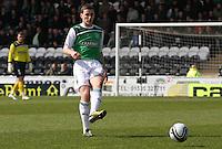 Paul Hanlon in the St Mirren v Hibernian Clydesdale Bank Scottish Premier League match played at St Mirren Park, Paisley on 29.4.12.