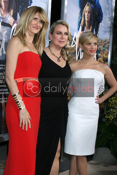 """Laura Dern, Cheryl Strayed, Reese Witherspoon<br /> at the """"Wild"""" Los Angeles Premiere, AMPAS Samuel Goldwyn Theater, Beverly Hills, CA 11-19-14<br /> David Edwards/Dailyceleb.com 818-249-4998"""