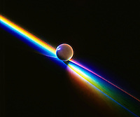 SPECTRA REFRACTED BY TRANSPARENT SPHERE<br />