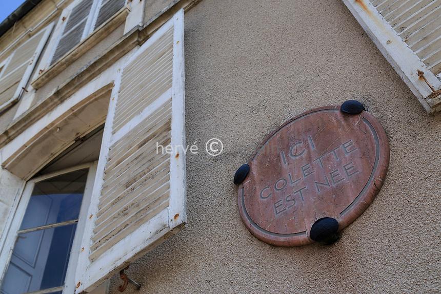 France, la Puisaye, Yonne (89), Saint-Sauveur-en-Puisaye, maison natale de Colette // France, the Puisaye, Yonne, Saint-Sauveur-en-Puisaye, Colette's house