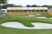 The 18th green during Round 3 of the Maybank Malaysian Open at the Kuala Lumpur Golf & Country Club on Saturday 7th February 2015.<br /> Picture:  Thos Caffrey / www.golffile.ie