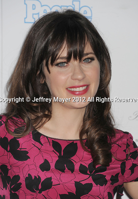 WEST HOLLYWOOD, CA - SEPTEMBER 21: Zooey Deschanel attends the 64th Primetime Emmy Awards Performers Nominee reception held at Spectra by Wolfgang Puck at the Pacific Design Center on September 21, 2012 in West Hollywood, California.