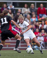 Boston College forward/midfielder Gibby Wagner (10) slots a pass forward. Boston College defeated North Carolina State,1-0, on Newton Campus Field, on October 23, 2011.