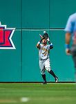 21 June 2015: Pittsburgh Pirates outfielder Jose Tabata pulls in a fly ball during game action against the Washington Nationals at Nationals Park in Washington, DC. The Nationals defeated the Pirates 9-2 to sweep their 3-game weekend series, and improve their record to 37-33. Mandatory Credit: Ed Wolfstein Photo *** RAW (NEF) Image File Available ***