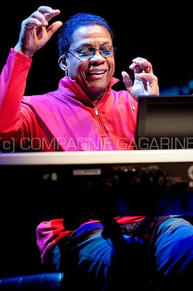 Jazz musician and legend Herbie Hancock in concert at the Bozar, Brussels (Belgium, 04/12/2010)