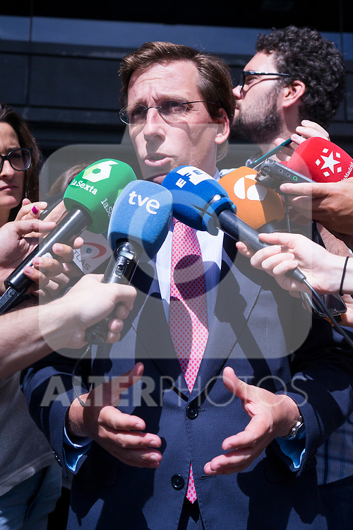 Mayor of Madrid Jose Luis Martinez Almeida after the General Council of Partido Popular. July 29, 2019. (ALTERPHOTOS/Francis González)
