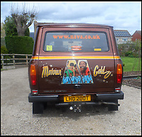 BNPS.co.uk (01202 558833)Pic: PeterLee/BNPS<br /> <br /> Motown themed 70's van.<br /> <br /> Transit-man Peter Lee - Lifetime's collection of anything related to Britains favourite van.<br /> <br /> White van Super-Man - When it comes to motoring collections there are no shortage of impressive Ferrari and Aston Martin ensembles, but one enthusiast is laying claim to a rather different collection.<br /> <br /> Peter Lee, 68, believes he has the world's biggest Ford Transit collection and is the proud owner of over 22,000 items relating to the world's most famous van.<br /> <br /> Included among that are nine pristine vehicles that he regularly uses himself at various shows and events.<br /> <br /> He says he has no idea how much he's spent assembling the impressive collection but it is thought to be in the hundreds of thousands of pounds.