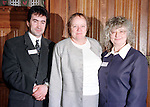 Robert Morton Peace Trail cordinator Ballyclare Secondary School and Vice Principle Judy McCormick with Secretary of State for Northern Ireland  Dr. Mo Molan in the House of Commins in London during the Peace Trail 1999 visit..Pic ByLine Fran Caffrey / Newsfile