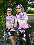 Lorraine Boyle and Barbara Keane at the annual Dromin charity cycle. Photo:Colin Bell/pressphotos.ie