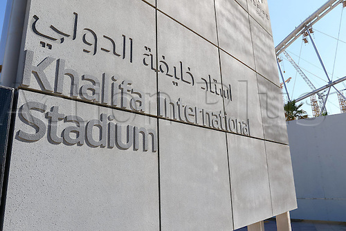 26.01.2015, Doha, Qatar. The bulding site of the Khalifa International Stadium being built for The FIFA World Cup 2022 in Doha Qatar