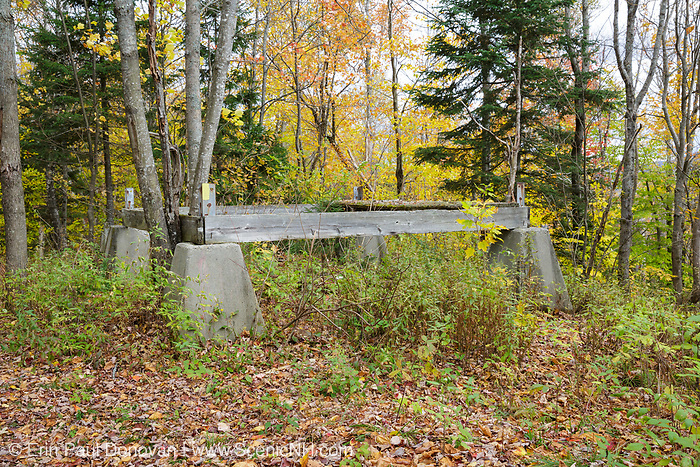 Remnants of the Cooley Hill Fire Tower (operated from 1939-1948) on Cooley Hill in Easton, New Hampshire USA.