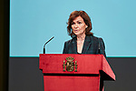 Carmen Calvo attends to the Reading of the Spanish Constitution for the 40th anniversary of its approval by the Congress at Instituto Cervantes in Madrid, Spain. October 31, 2018. (ALTERPHOTOS/A. Perez Meca)