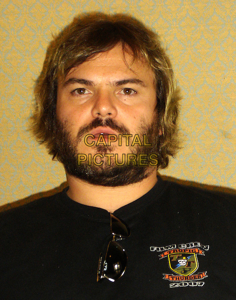 "JACK BLACK.Photocall for ""Tropic Thunder"", the Four Seasons, Los Angeles, California, USA..August 3rd, 2008.headshot portrait beard facial hair.CAP/AW.©Anita Weber/Capital Pictures."