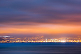 NEW ZEALAND, Wellington, Wellington Skyline at night from across the Harbour, Ben M Thomas