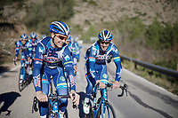 Antoine Demoitié (BEL/Wanty-Groupe Gobert) & Kenny De Haes (BEL/Wanty-Groupe Gobert) laughing along<br /> <br /> Pre-season Training Camp january 2016
